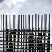 Steel reinforcement bar - application on construction site